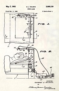 Snore alarm by George J. Wilson, Patent Collection, Getty Images