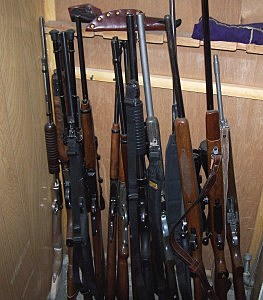 Weapons cache, Sweetwater County Sheriff's Office