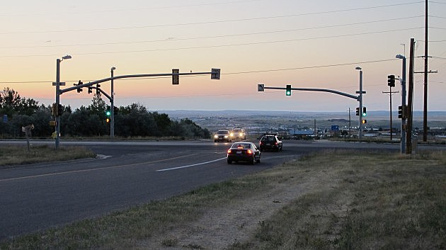 Intersection of Casper Mountain Road and Wyoming Boulevard