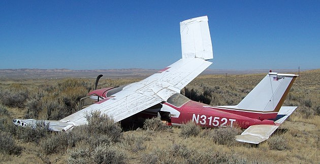 Hard landing near Rock Springs, Sweetwater County Sheriff's Office