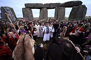 Winter solstice at Stonehenge, December, 22, 2011, Matt Cardy, Getty Images