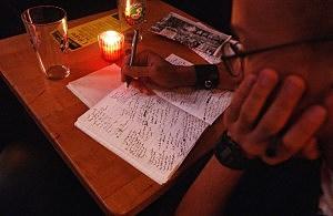 Poetry reading in New York City, Spencer Platt, Getty Images