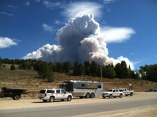 Casper-Natrona Command Communications Center Responds to Sheep Herder Hill Fire on Casper Mountain