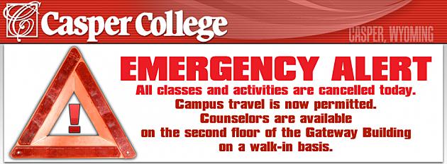 Casper College Emergency Alert