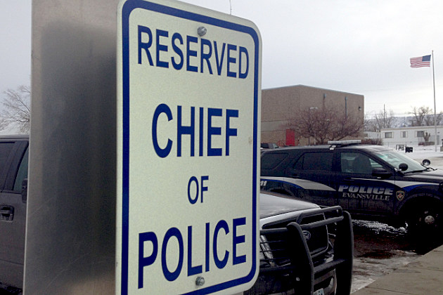 Evansville Police Chief parking sign
