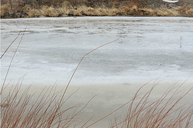 North Platte River Frozen