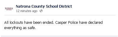 Facebook post about lockdown